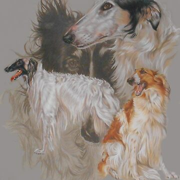 Borzoi - Russian Wolfhound Medley by BarbBarcikKeith