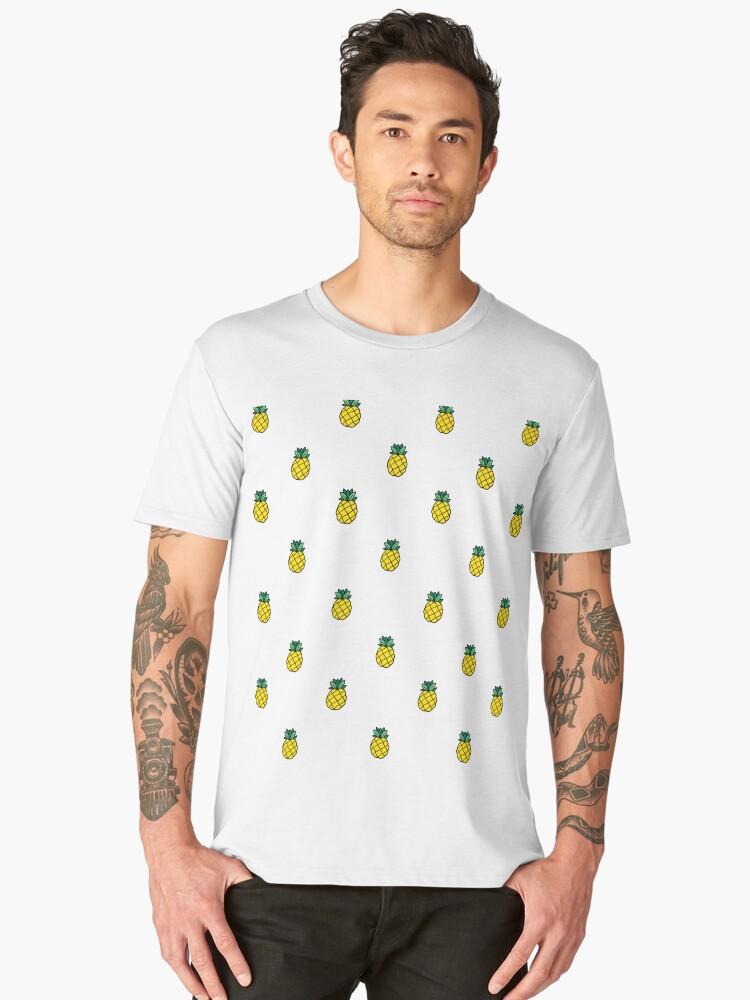 41742a1b Hawaiian Pineapple Pineapples Emoji Novelty Tropical Summer Beach Vacation  Men's Premium T-Shirt Front