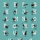 Alphabet - Aqua by addsoul