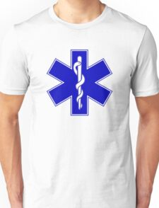 Paramedic Cross and Rod of Asclepius Unisex T-Shirt