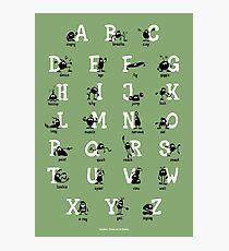 Alphabet - Green Photographic Print
