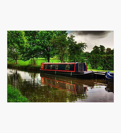Canal Narrow Boat - Ripon Photographic Print