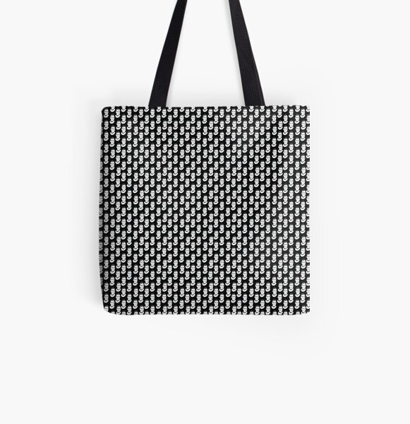 Ruth Bader Ginsburg Black and White All Over Print Tote Bag
