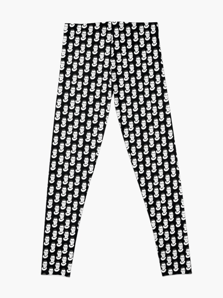 Alternate view of Ruth Bader Ginsburg Black and White Leggings