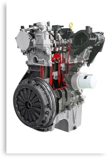 car engine isolated on white background by goceris