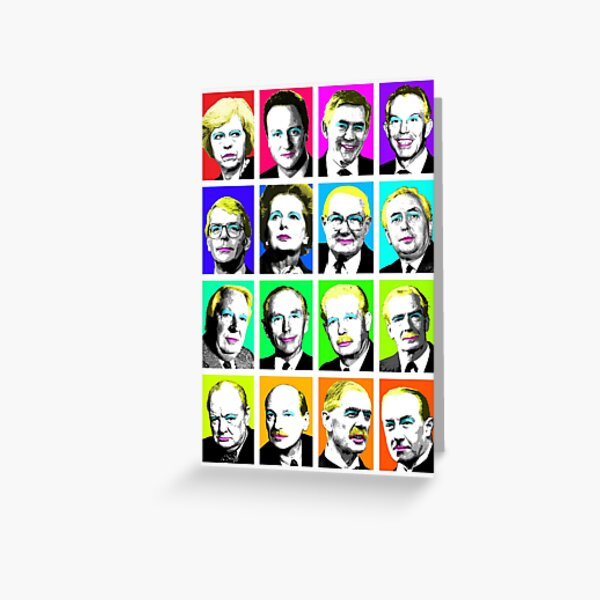 Prime Ministers Question Time x 16 Greeting Card