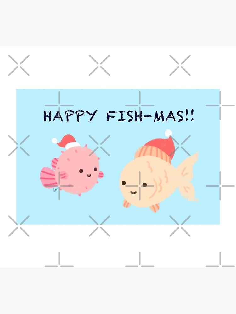 Glückliche Fishmas! (Weihnachtsspielkarten-Serie) von meowlody