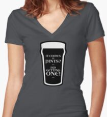 It Comes In Pints? Women's Fitted V-Neck T-Shirt