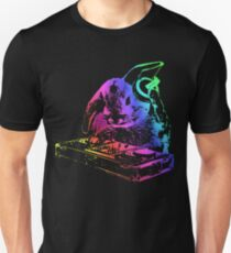 Bunny Neon DJ Unisex T-Shirt