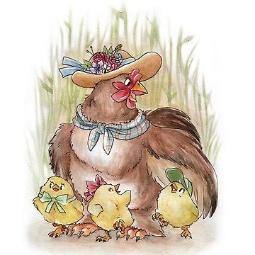 Chicken Family by yolinart