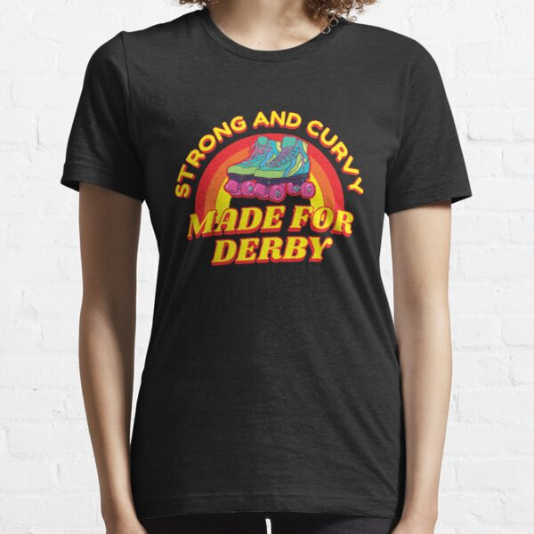 Strong and Curvy Roller Derby Girl Essential T-Shirt