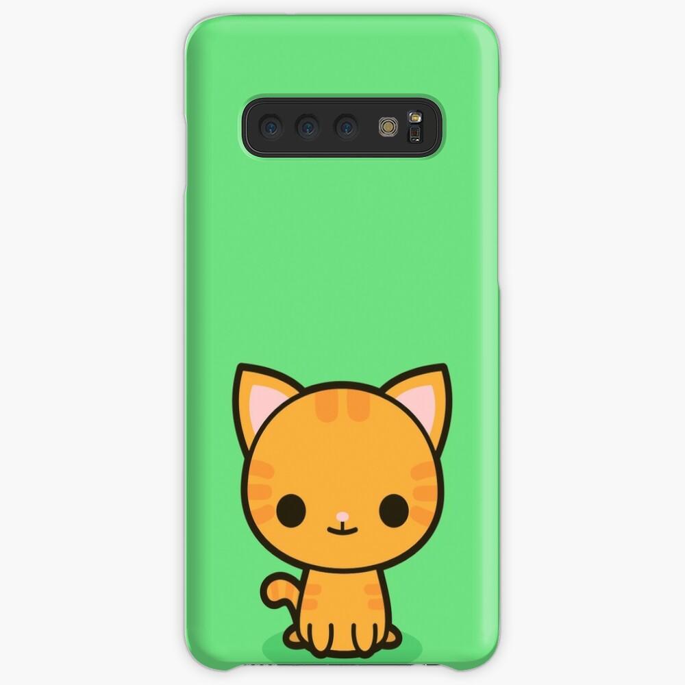 Kawaii Ingwer Katze Hülle & Klebefolie für Samsung Galaxy