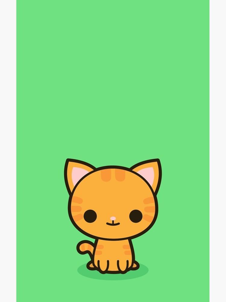 Kawaii Ingwer Katze von peppermintpopuk