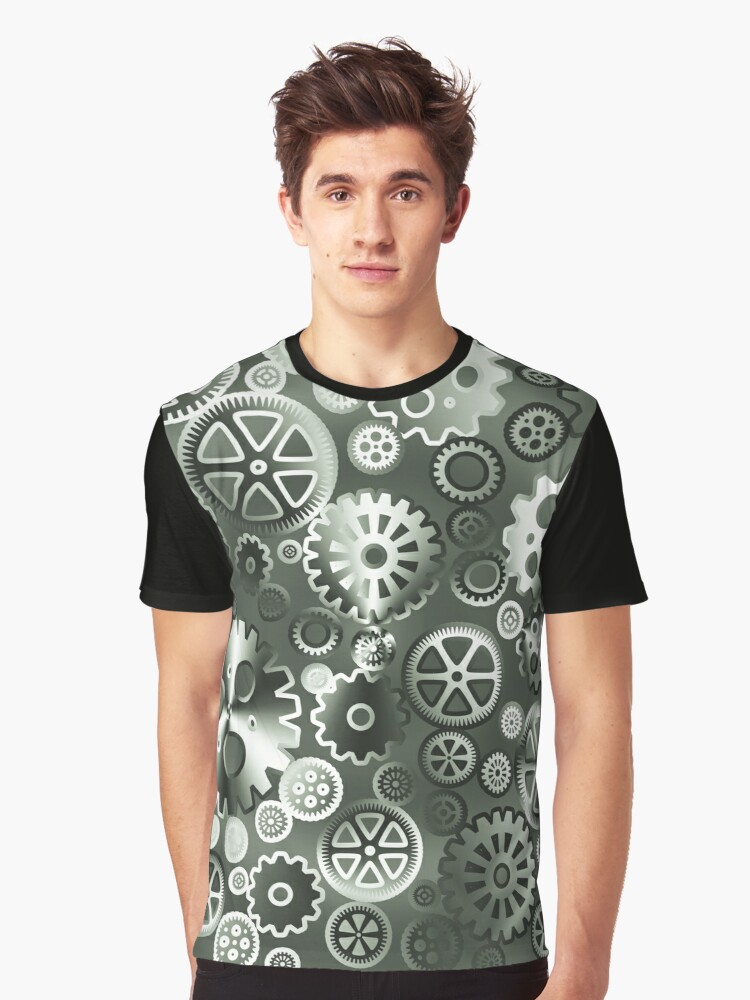 Steel gears Graphic T-Shirt Front