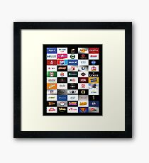 Bitcoin Logo Collage Framed Print