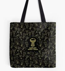 African djembe drum pattern - faux gold/black - Layla's Dance & Drum Tote Bag