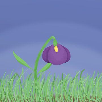 Spring Violet on a Stormy Sky by hillyhale