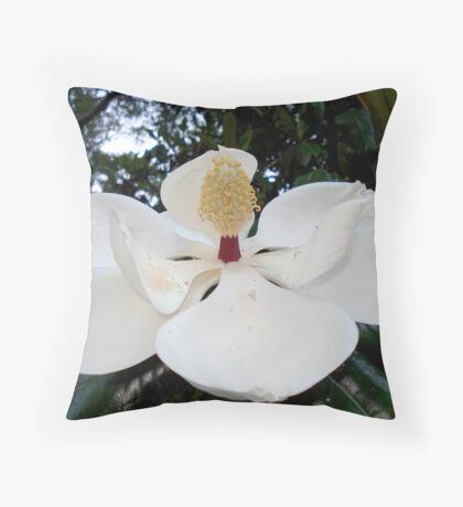 Magnolia Angel Throw Pillow