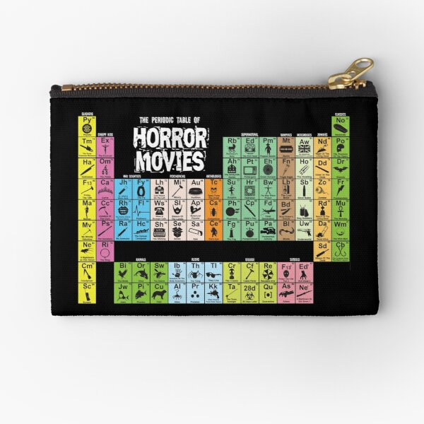 Periodic Table of Horror Movies Zipper Pouch