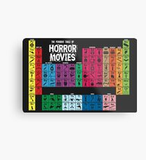 Periodic Table of Horror Movies Metal Print