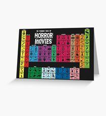 Periodic Table of Horror Movies Greeting Card
