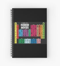 Periodic Table of Horror Movies Spiral Notebook