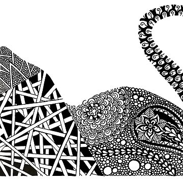 Zentangle Kitty Cat by Goudvissie