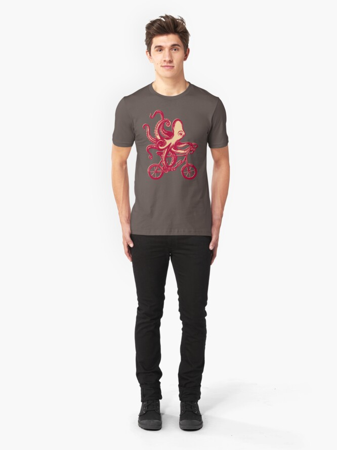 Alternative Ansicht von Radsport Oktopus Slim Fit T-Shirt