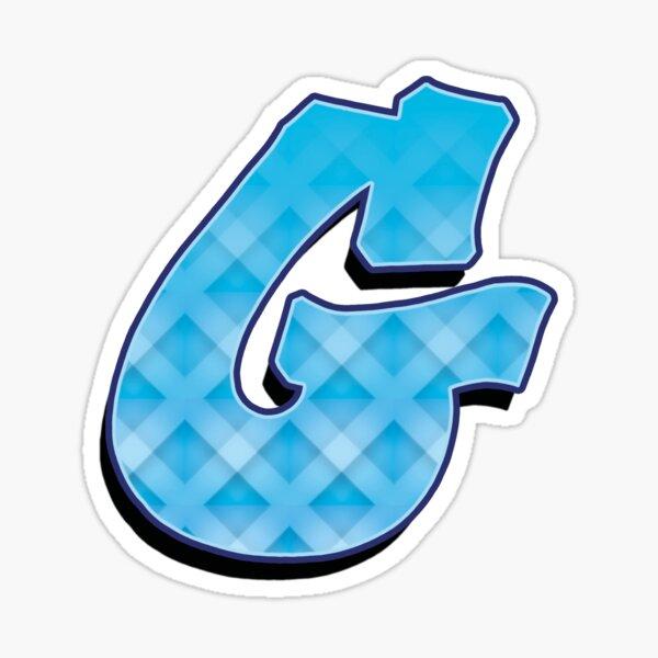 G - Blue striped Sticker