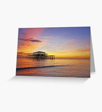 West Pier Murmuration Greeting Card