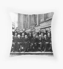 Solvay Conference 1927 Throw Pillow