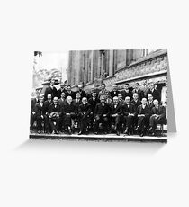 Solvay Conference 1927 Greeting Card