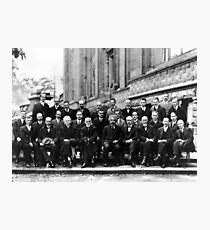 Solvay Conference 1927 Photographic Print
