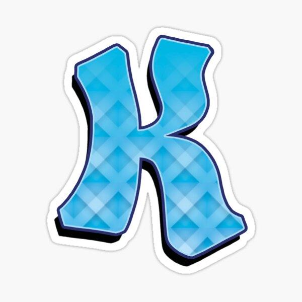K - Blue striped Sticker