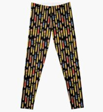 Tiny Pencil Pattern by Robayre Leggings