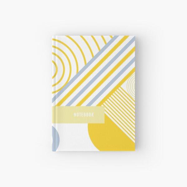 Yellow geometry Hardcover Journal