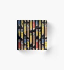 Tiny Pencil Pattern by Robayre Acrylic Block