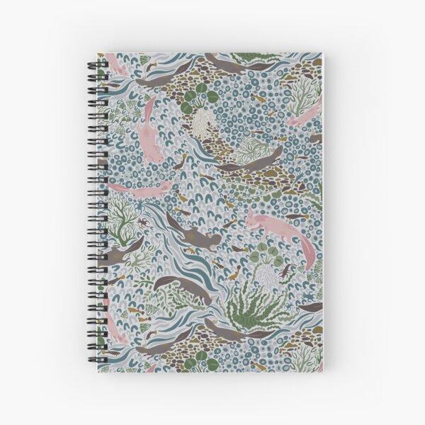 Axolotl Scatter Spiral Notebook