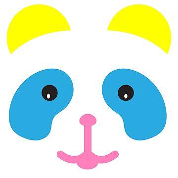 Pansexual Panda Face Emoji by kreativedesigns