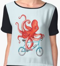 Cycling octopus Chiffon Top