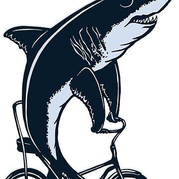 Cycling Shark  by amelielegault