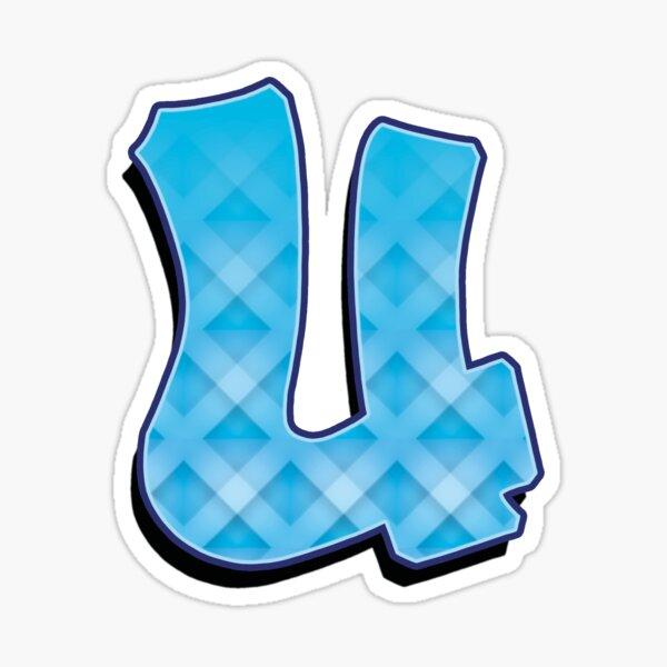 U - Blue striped  Sticker