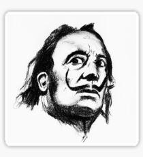 Salvador Dali portrait Sticker