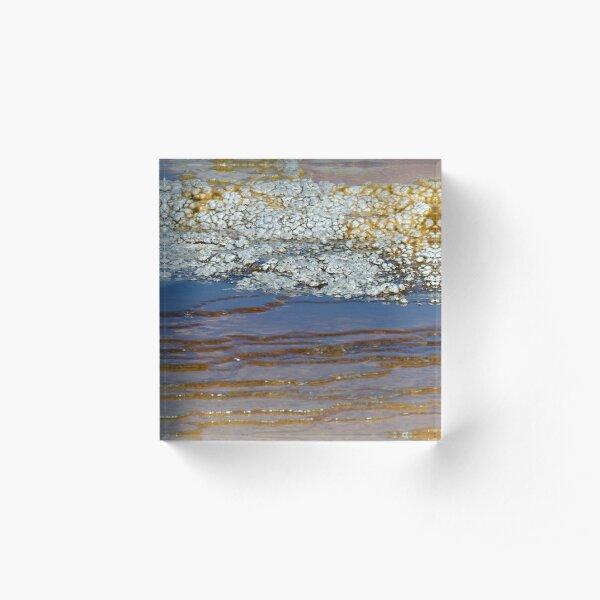 Hot Spring Mini-Scape Acrylic Block