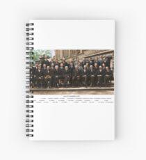 Smartest Photo Ever - Einstein, Bohr, Heisenberg, Curie, Schrödinger, Dirac, Pauli, Planck, Lorentz Spiral Notebook