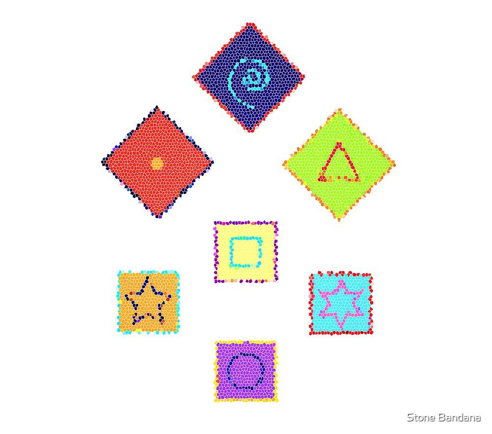 Formation Seven Symbols by Stone Bandana