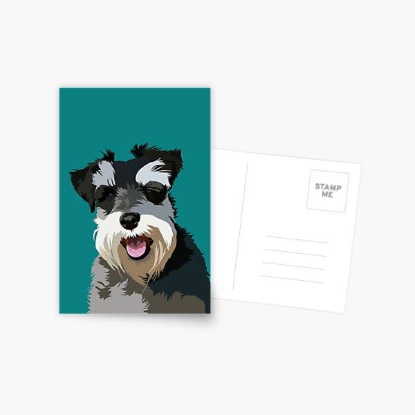 Zwergschnauzer Postkarte