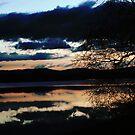 Lake reflections Monteith by Kimberley Davitt