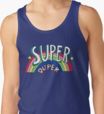 Super Duper Hand Drawn Seventies Style Rainbow Graphic Tank Top