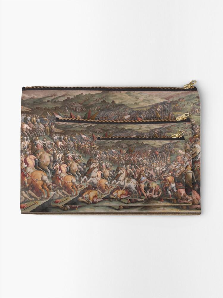 Alternate view of Classic Art The battle of Marciano in Val di Chiana By Giorgio Vasari Zipper Pouch